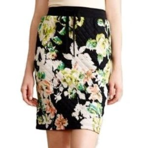 LILKA quilted floral pencil skirt M